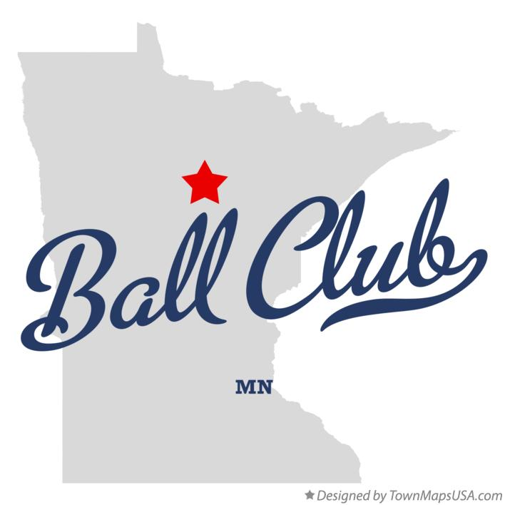 Map of Ball Club Minnesota MN