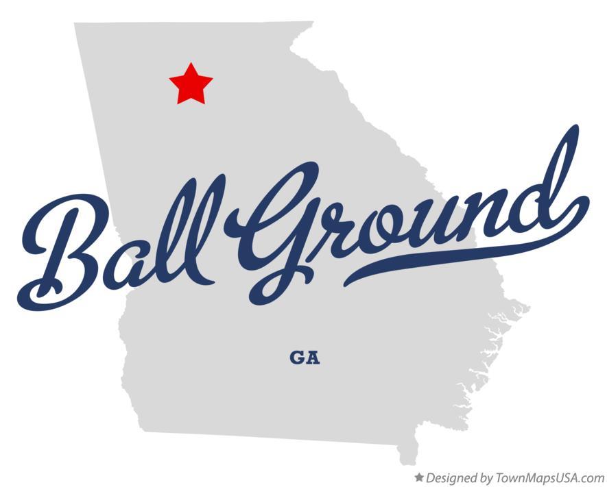 Map Of Ball Ground Ga Georgia
