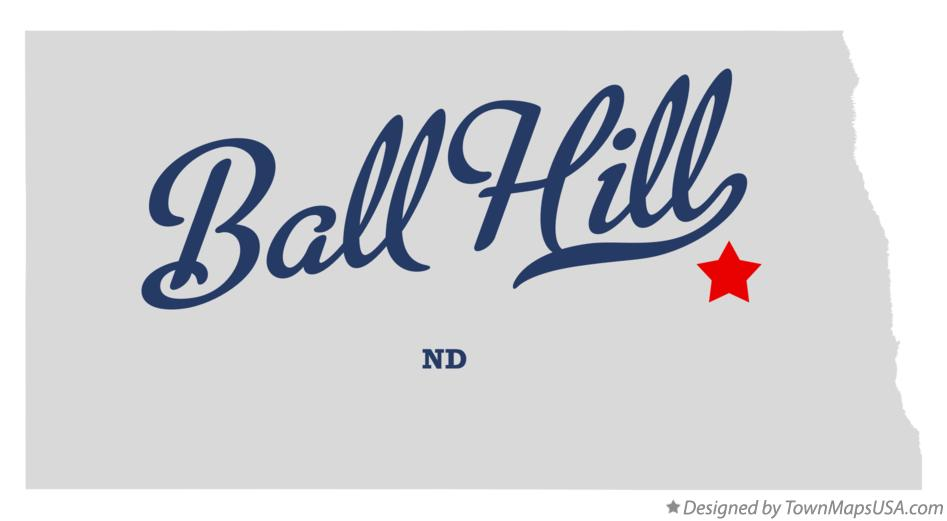 Map of Ball Hill North Dakota ND