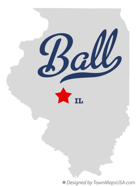 Map of Ball Illinois IL