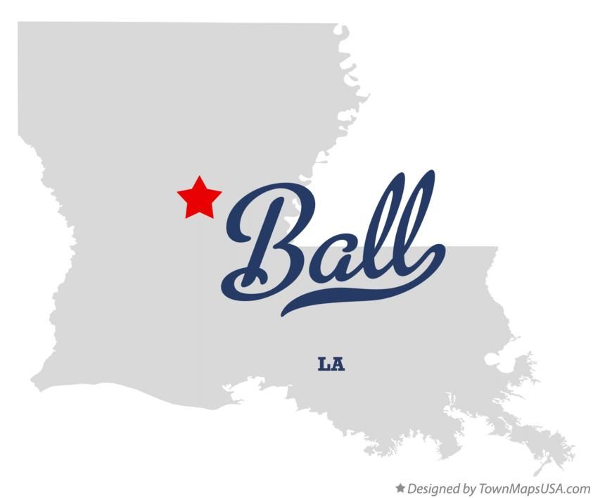 Map of Ball Louisiana LA