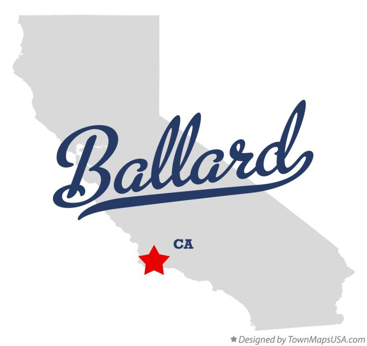 Map of Ballard California CA