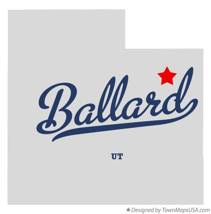 Map of Ballard Utah UT