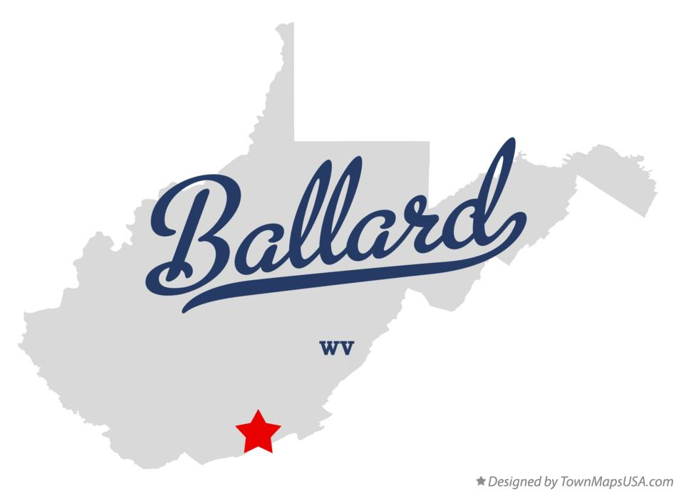 Map of Ballard West Virginia WV
