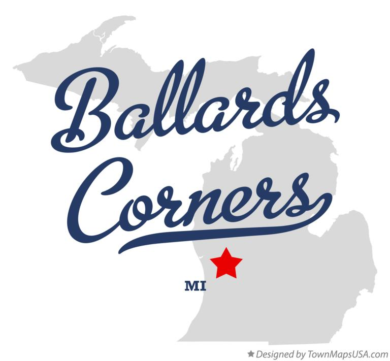 Map of Ballards Corners Michigan MI