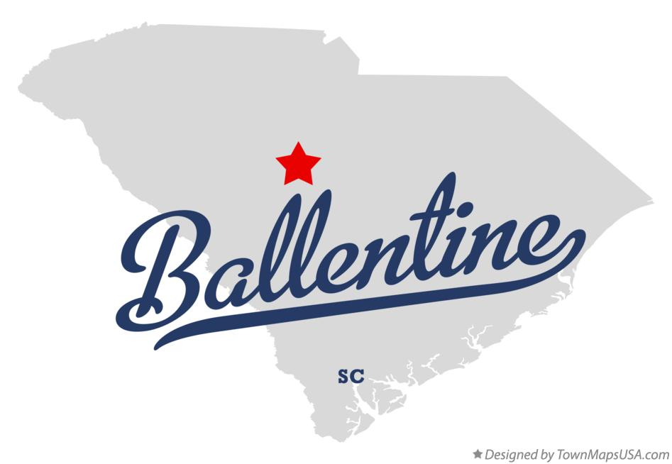 Map of Ballentine South Carolina SC