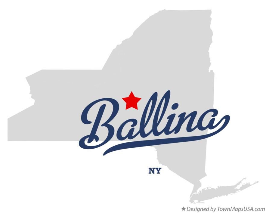 Map of Ballina New York NY