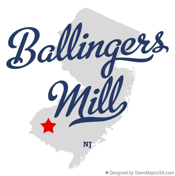 Map of Ballingers Mill New Jersey NJ