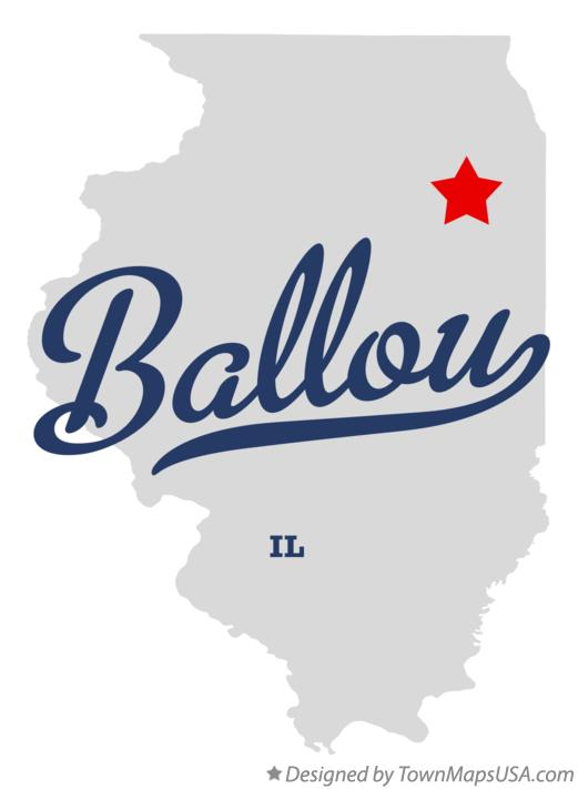 Map of Ballou Illinois IL