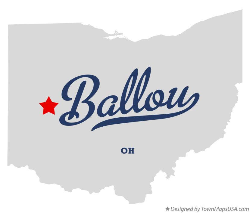 Map of Ballou Ohio OH