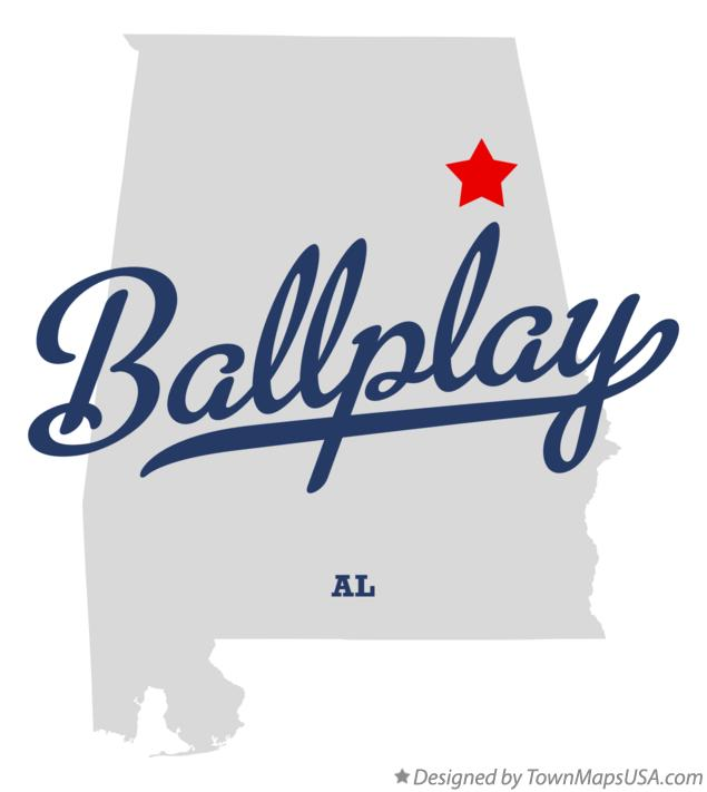 Map of Ballplay Alabama AL