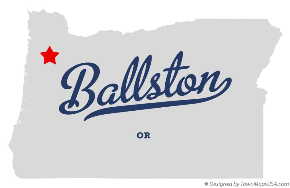 Map of Ballston Oregon OR