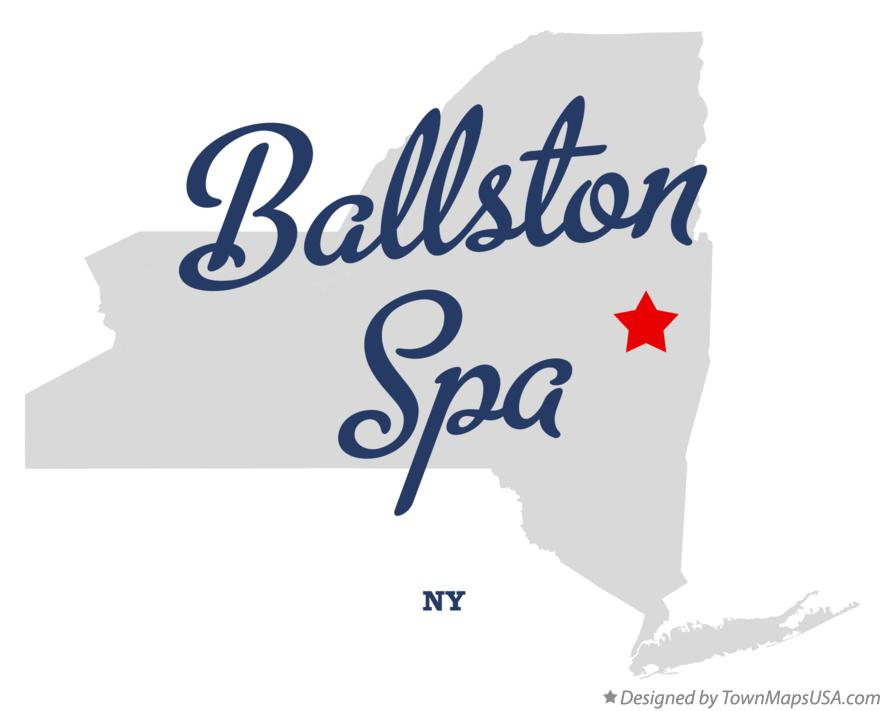 Map of Ballston Spa New York NY