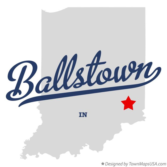 Map of Ballstown Indiana IN