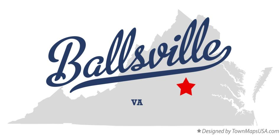 Map of Ballsville Virginia VA