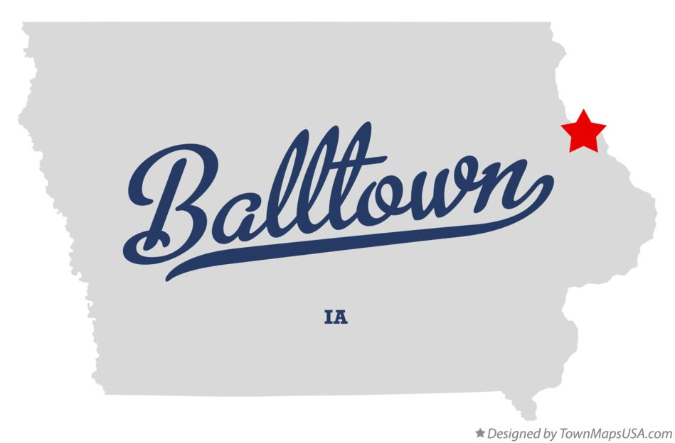 Map of Balltown Iowa IA