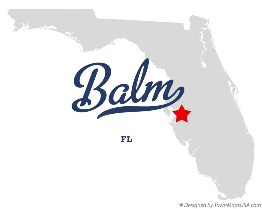 Map of Balm Florida FL