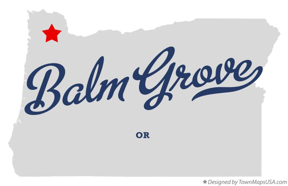 Map of Balm Grove Oregon OR