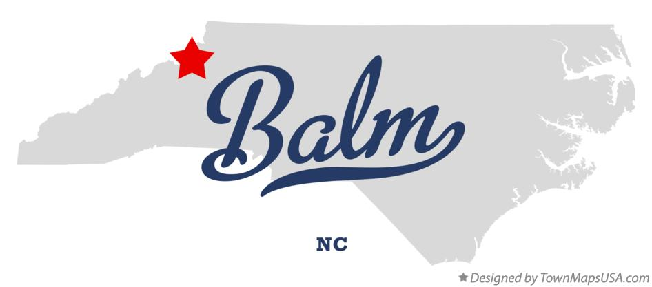 Map of Balm North Carolina NC