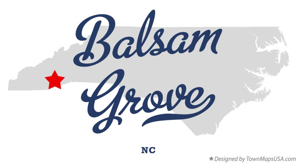 Map of Balsam Grove North Carolina NC