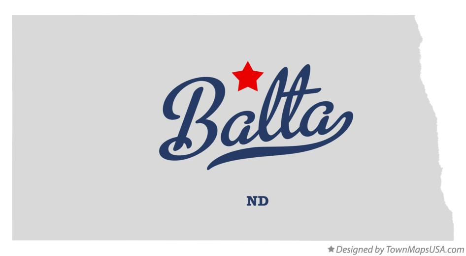 Map of Balta North Dakota ND