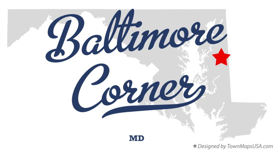 Map of Baltimore Corner Maryland MD