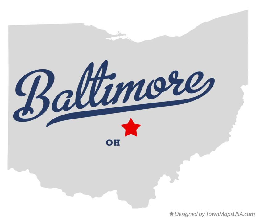 Map of Baltimore Ohio OH