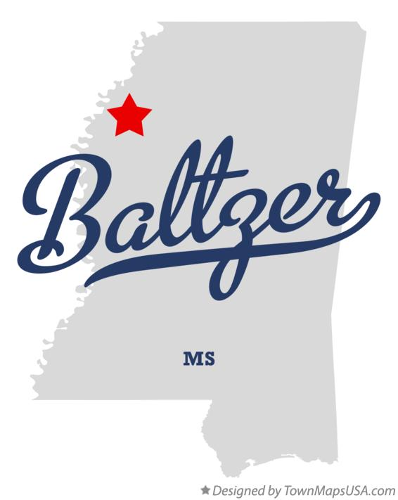 Map of Baltzer Mississippi MS