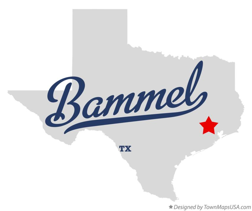 Map of Bammel Texas TX