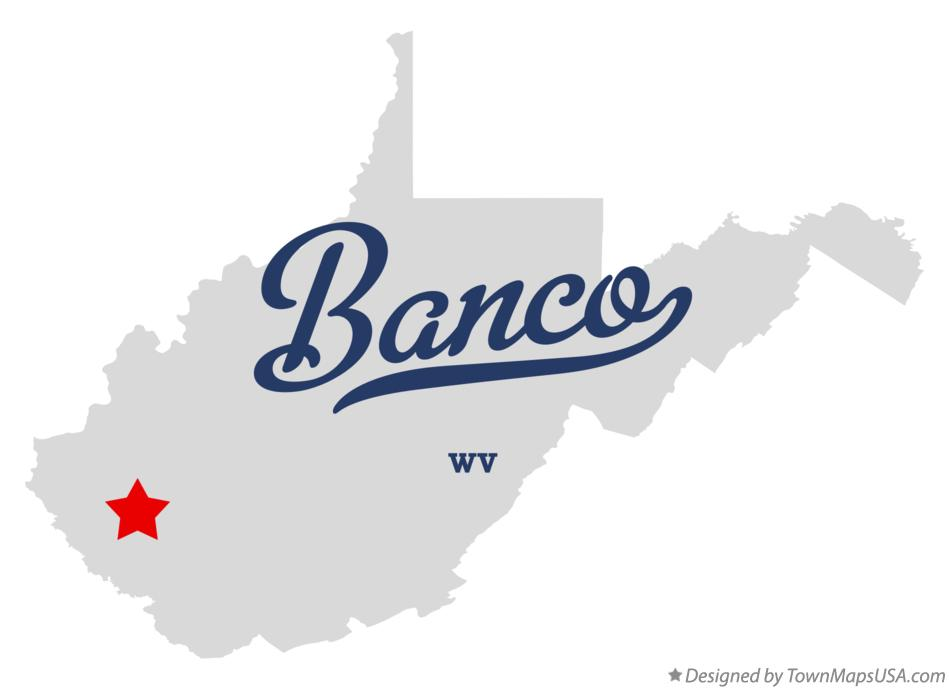 Map of Banco West Virginia WV