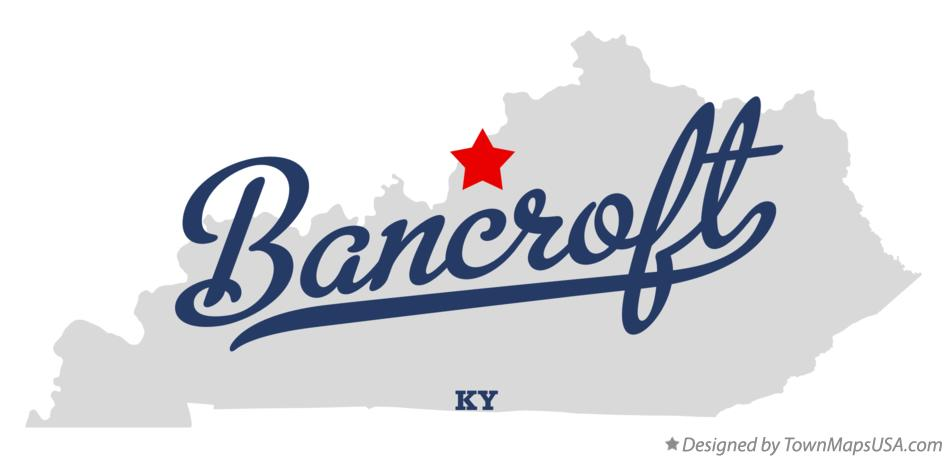 Map of Bancroft Kentucky KY