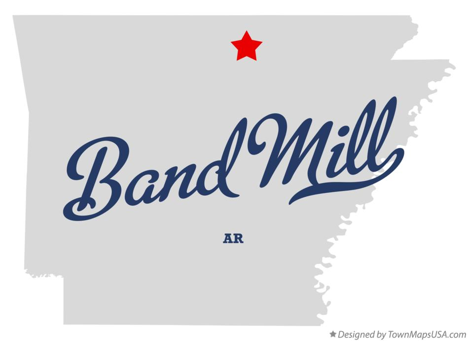 Map of Band Mill Arkansas AR