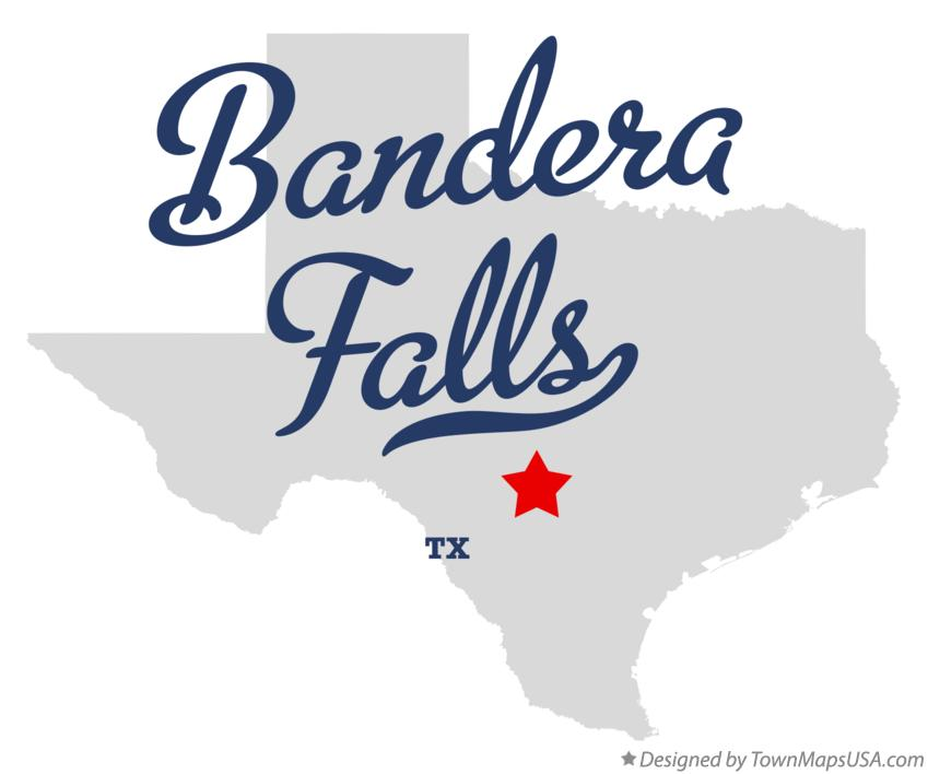 Map of Bandera Falls Texas TX