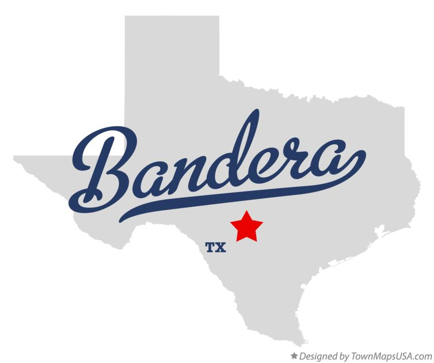 Map of Bandera Texas TX