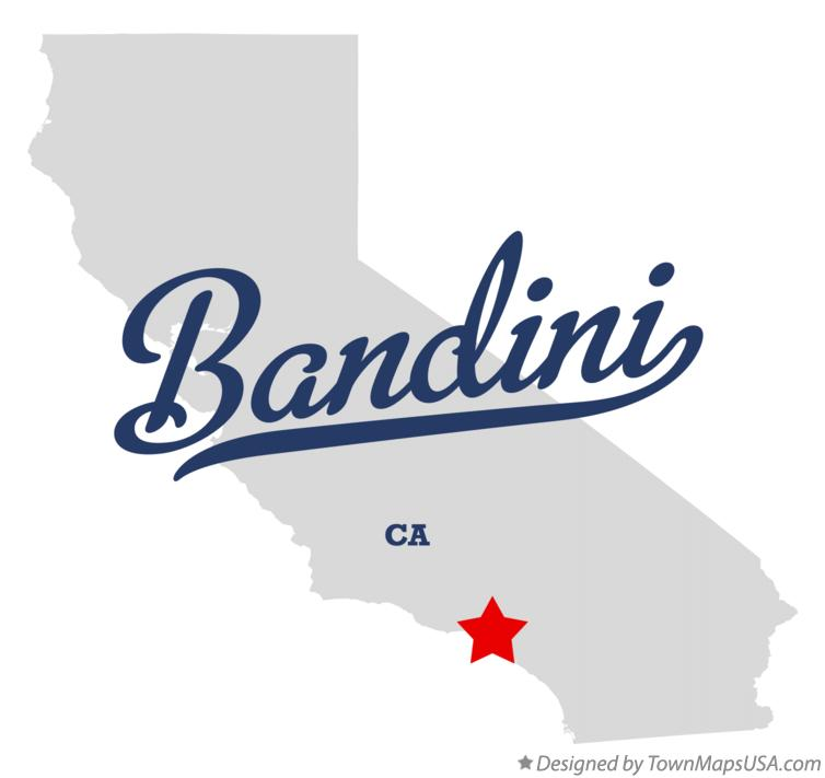 Map of Bandini California CA