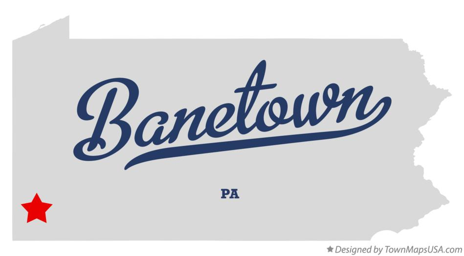 Map of Banetown Pennsylvania PA