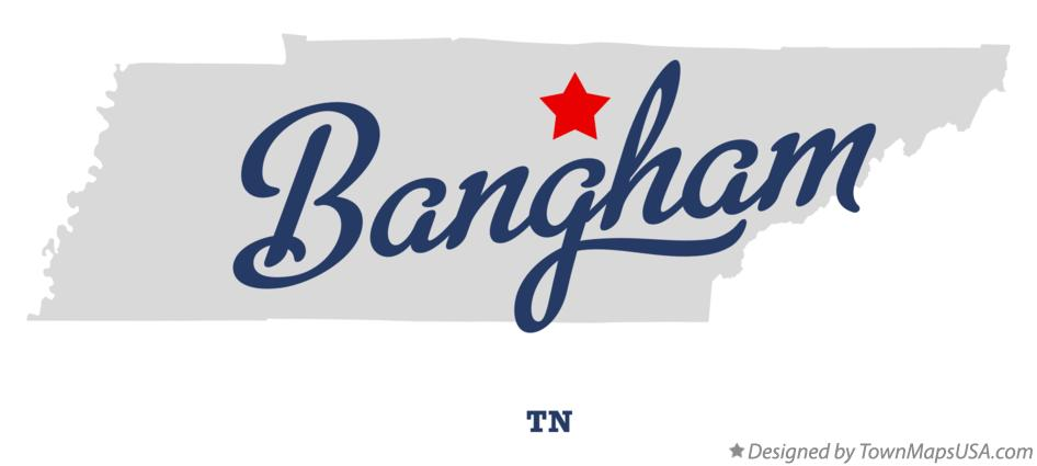 Map of Bangham Tennessee TN
