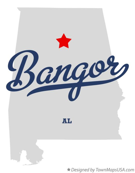 Map of Bangor Alabama AL