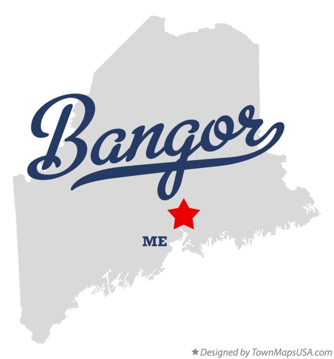 Map of Bangor Maine ME