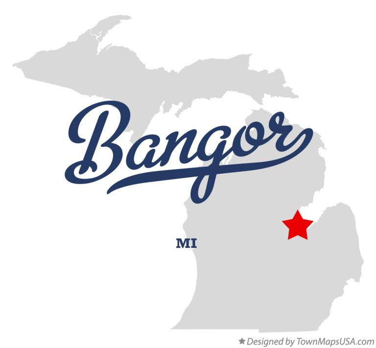 Map of Bangor Michigan MI