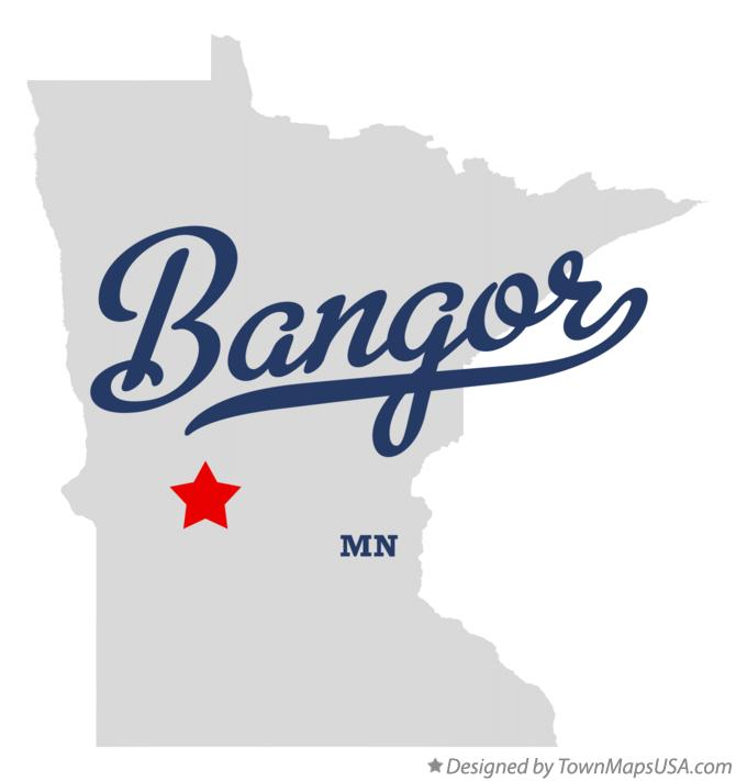 Map of Bangor Minnesota MN