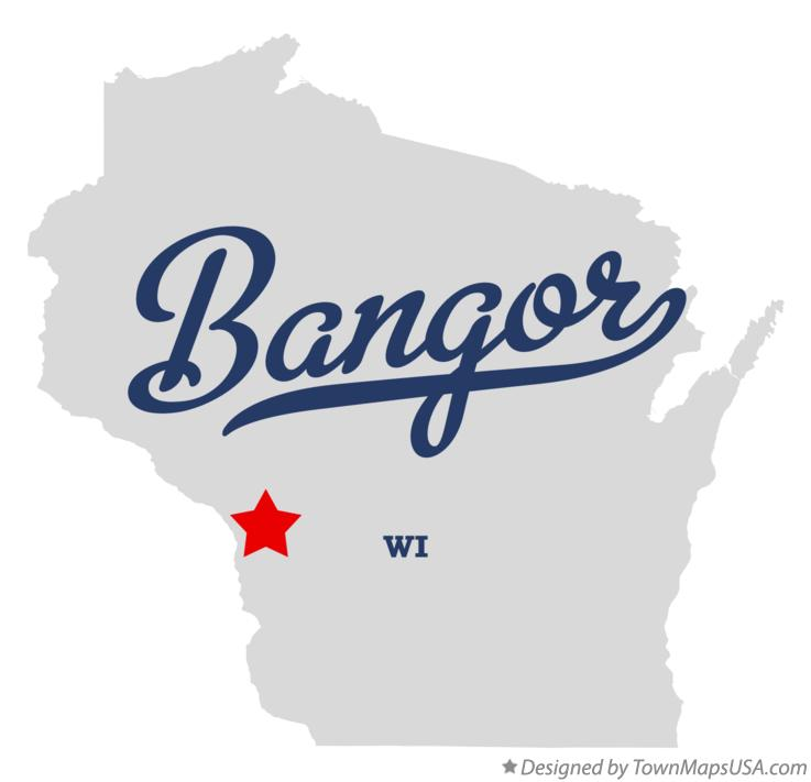Map of Bangor Wisconsin WI