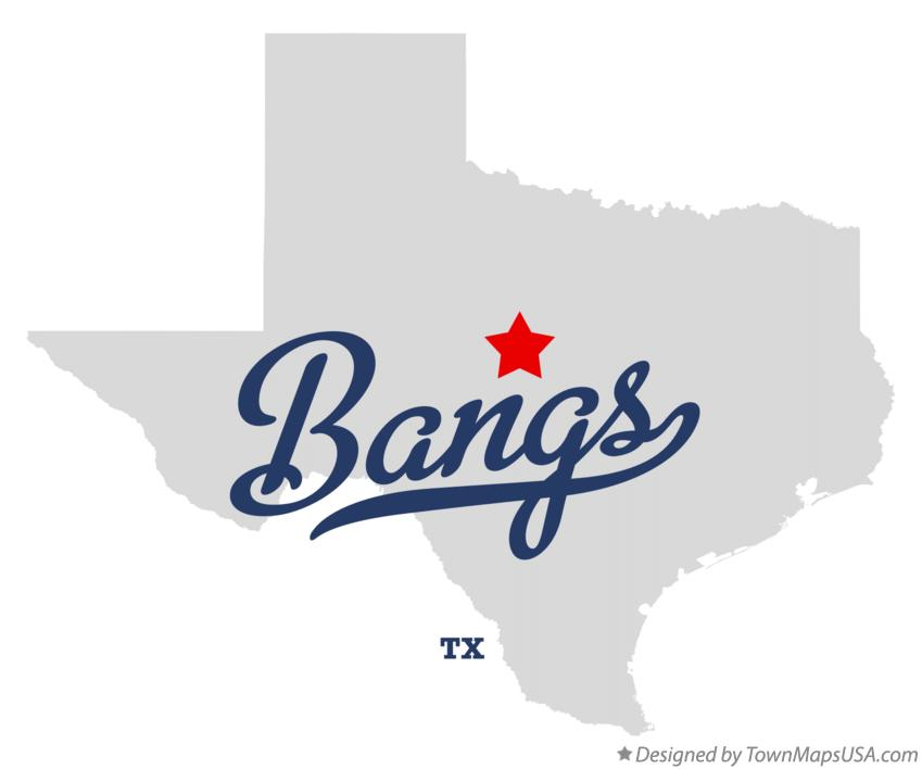 Map of Bangs Texas TX