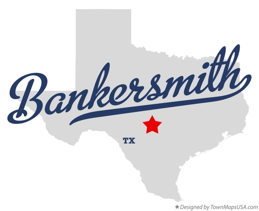 Map of Bankersmith Texas TX