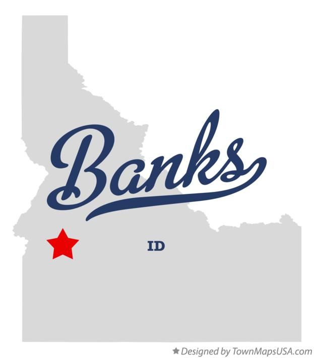 Map of Banks Idaho ID