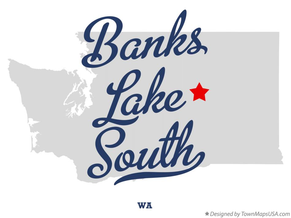 Map of Banks Lake South Washington WA
