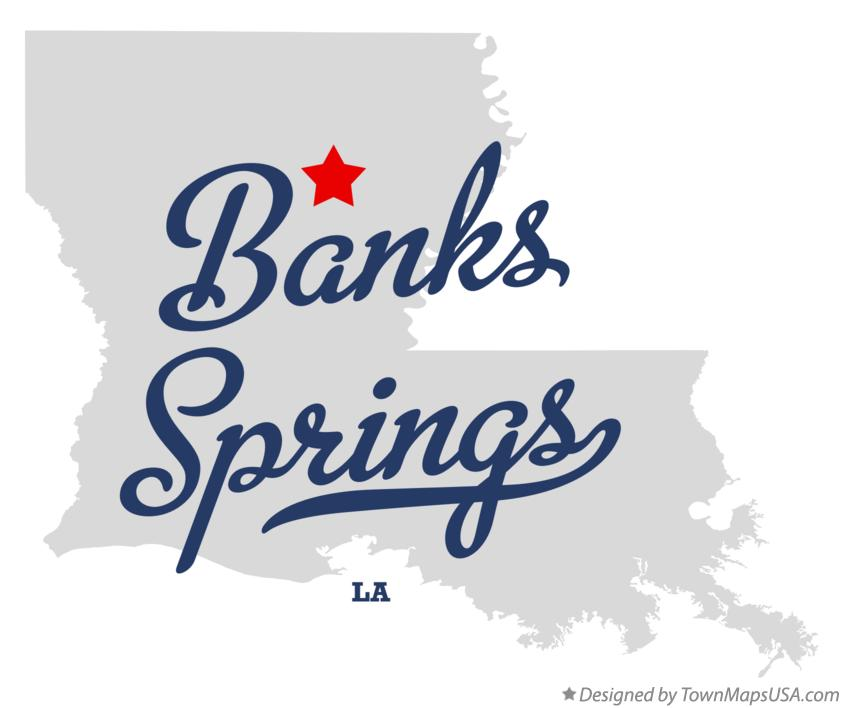 Map of Banks Springs Louisiana LA