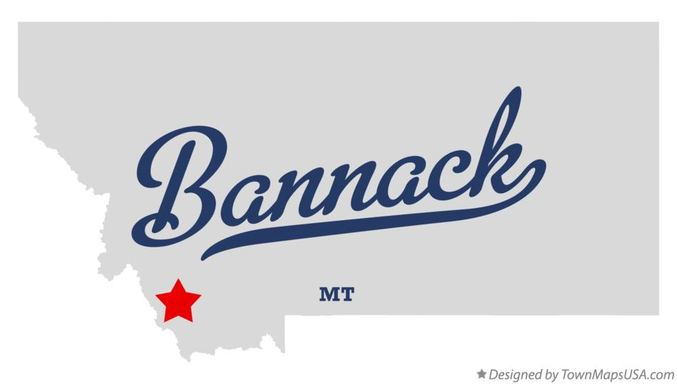 Map of Bannack, MT, Montana