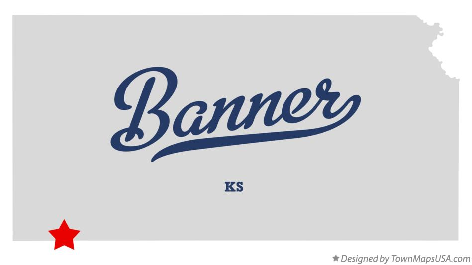 Map of Banner Kansas KS