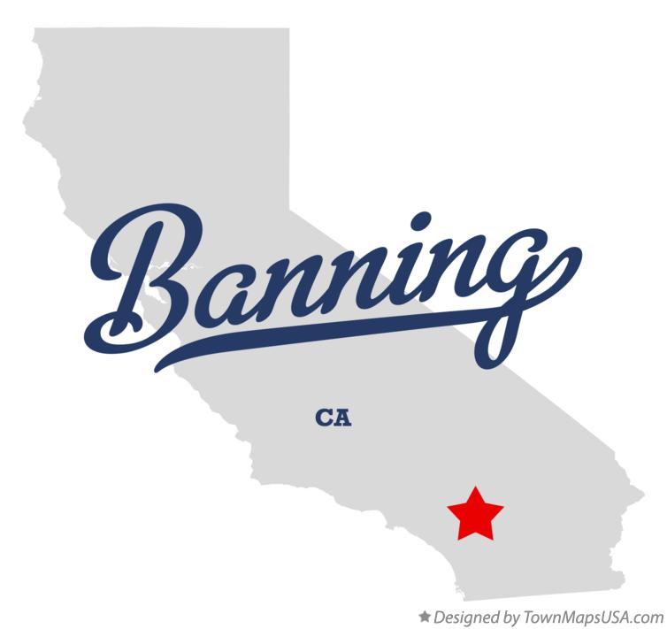 Map of Banning California CA